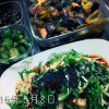 2015年5月8日の晩御飯。iwakiの耐熱ガラスタッパー、パイレックスが大活躍。