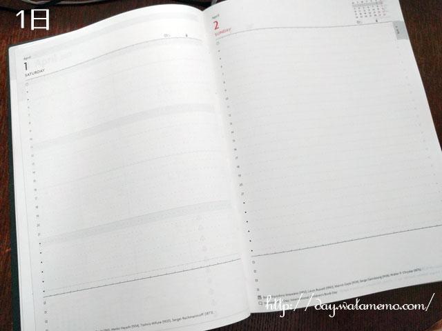 マークス EDiT手帳 2017 4月始まり A5正寸 1日1ページ