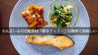 わんまいるの宅配食材お試し「健幸ディナー」は超便利 & 家庭の味に近い健康食で美味しい。