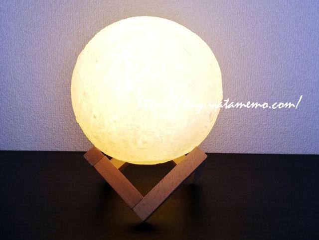 癒しタイムのお供「月のランプ」