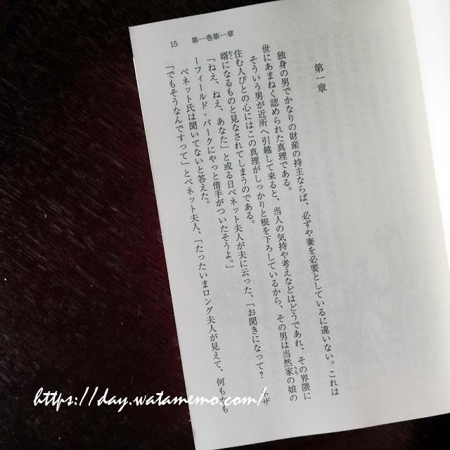 大島一彦訳『高慢と偏見』  中公文庫 2017年刊