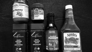 iHerb(アイハーブ)で購入した食品、ケチャップ、はちみつ、ノンカフェインコーヒー他。